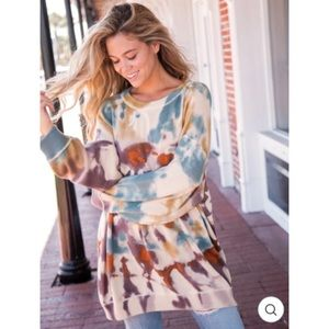 NATURAL LIFE | Taylor tie dye oversized sweater